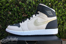 NIKE AIR JORDAN 1 RETRO HIGH PRM GS SZ 6 Y HEIRESS PACK PEARL BLACK 832596 209