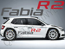 P34 SKODA FABIA R2 LOGO SIDE GRAPHICS DECAL STICKERS