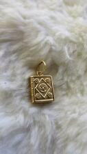 Vintage Vicenza Italian Silver Yellow Gold Gilt Prayer Book Charm pendant