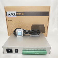 T-300K SD Card online VIA PC RGB Full color led controller 8 Ports 8192 Pixels