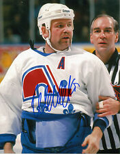 "WENDEL CLARK QUEBEC NORDIQUES SIGNED 8"" X 10"" PHOTO W/ COA"