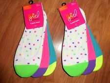 girls / womens super low cut socks / foot liners ~ great for flats & low sneaker