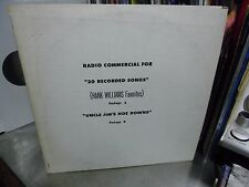 Radio Commercial for 20 Recorded Songs/Uncle Jim's Hoe Downs LP Hank Williams