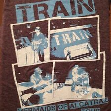 VINTAGE TRAIN 2013 MERMAIDS OF ALCATRAZ TOUR T SHIRT SMALL