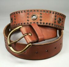 EL PORTAL Men's VTG Brass Cognac Leather Belt 42 $49 CMP MINT