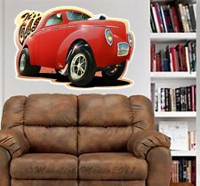 1940 - 1941 Willys Gasser Coupe WALL GRAPHIC DECAL #6821 MAN CAVE GARAGE MURAL