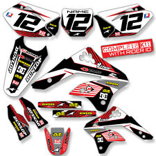 2006 2007 2008 KXF 250 GRAPHIC KIT KAWASAKI KX250F RED MOTOCROSS DIRT BIKE DECAL