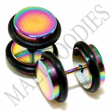 2118 Fake Cheater Illusion Faux Plugs 16G Steel 00G 10mm Multi-Color Large