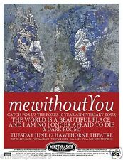 MEWITHOUTYOU/CATCH FOR US THE FOXES/DARK ROOMS 2014 PORTLAND CONCERT TOUR POSTER