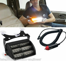 12v - AMBER LED DASHBOARD GRILL FLASHING MODE LIGHTS STROBE RECOVERY VEHICLE CAR