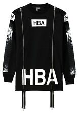 Brand New HOOD BY AIR HBA Logo X-Ray Graphic Double Zip Black Sweatshirt Size S
