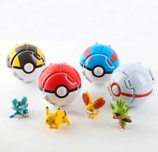 4 Style Pokemon Pokeball Monster Bounce Pop-up Figure PIKACHU Toys Gift Cosplay