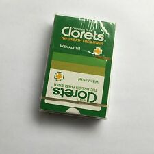 Vintage Advertising Clorets Chewing Gum SEALED & Unused Pack of Playing Cards