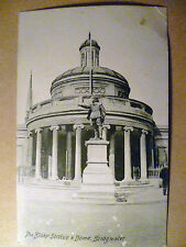.Vintage Postcard: The Blake Statue & Dome, Bridgwater, Somerset