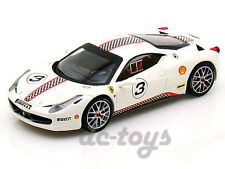 Hot Wheels Elite Ferrari 458 Challenge Italia #3 1:18 Diecast White X5487