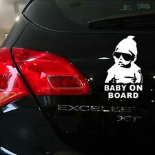 Funny Sliver Baby on Board Vinyl Car Sticker With Sunglasses Decal Sign Window