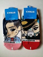 "BIGBANG""G-DRAGON/T.O.P"" SOCKS 2PAIRS WHITE COLOR SPLENDID DESIGN_KOREA/ K POP"