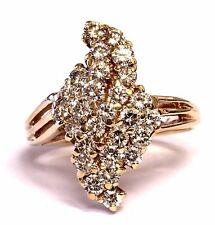 14k yellow gold 1.35ct VS G diamond womens cluster ring 7.3g estate vintage