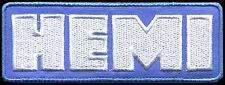 Hemi Patch Automotive Hot Rod Drag Race Classic Car Mopar Dodge blue