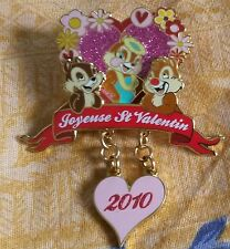 CHIP DALE CLARICE St VALENTIN LE 900 Disney Land PARIS DLP DLRP DANGLE 2010 PIN