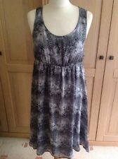 FANTASTIC MAMA.LICIOUS GREY SNAKEPRINT MATERNITY DRESS UK SIZE M (10) BNWT