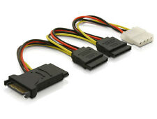 Delock Kabel Power Stromkabel SATA 15pin   3x SATA HDD + 1x 4pin IDE 60106