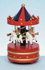 *Wooden Xmas Christmas Carousel Music Box Merry Go Round Home Gift Decoration*