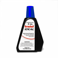 2 oz!!! BLUE Trodat / Ideal Rubber Stamp Refill Ink (for stamps & stamp pads)