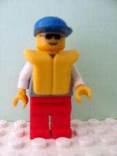 LEGO Minifig res005 @@ Coast Guard 1 - Blue Cap, Sunglasses, Life Jacket - 4022
