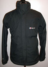 Men Berghaus AQ2 Jacket Medium Black Outdoor Walking Hiking Hooded Coat Raincoat