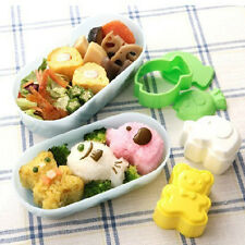 3Pcs/Set Cute Cartoon Baking Mold DIY Bento Sushi Rice Ball Roll Mould Maker