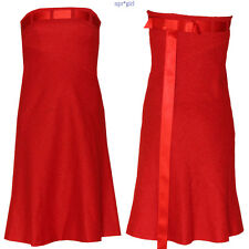 Guy LaRoche Strapless Bustier Knee Length Red Ribbon Cocktail Holiday Dress 6