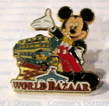 MICKEY WORLD BAZAAR POINTING TO BUS TRANSPORT VEHICLE TOKYO JAPAN DLR Disney Pin