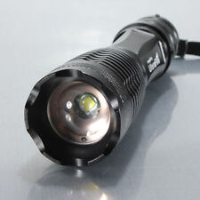 Black 2200 Lumen Zoom CREE XM-L T6 LED Flashlight Torch Lamp Light 18650 3 AAA