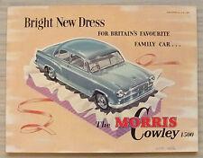 MORRIS COWLEY 1500 Car Sales Brochure Sept 1956 #H&E 5649