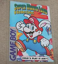VTG Super Mario Land 2 Store Display Poster Promo Gameboy Sign Nintendo GB