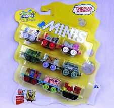 THOMAS & FRIENDS Minis Train Engine 2016 SPONGEBOB Sealed 9 Pack
