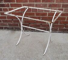 Vintage Ornamental Painted Wrought Iron Chic Garden Table - Shabby, Cottage