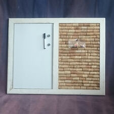 Shabby Chic Cork & Whiteboard Notice Board