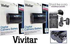 2 - Pcs NP-FM500H Li-Ion Battery With Charger For Sony Alpha DSLR-A580 DSLR-A700