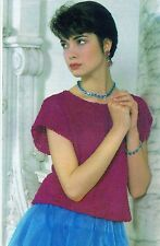 ~  Pingouin Knitting Pattern For Lady's Pretty Lacy Top