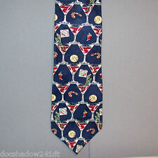 Tabasco BLOODY MARY & SHRIMP Navy Blue Burgundy Neck Tie made in USA #374