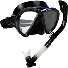 NEW Scuba Diving Matrix Mask Dry Snorkel Snorkeling Set