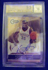 Kevin Durant 10-11 Certified GOLD AUTO Rare Short Print 5/10 Graded Gem Mint 9.5