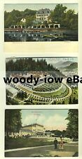 ar0155 - Bad Nauheim , Germany & Marienbad , Czechoslovakia 3 embossed postcards