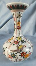 Japanese Arita Aoki Vase Birds Flowers 6""