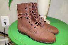 Tod's brown suede  leather laced boots size 38.5 use 8.5   (BOTA300)