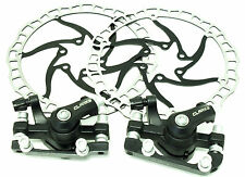 Bicycle  Mechanical Disc Brake Set With 2 x 160mm Rotors Black Made By Clarks UK