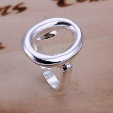 Wholesale 925 silver Ring women's O Shape rings fashion jewelry size 8