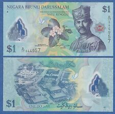 Brunei 1 Ringgit P 35 2011 UNC Low Shipping! Combine FREE!  Polymer